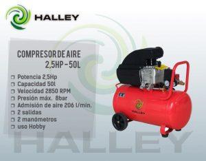 COMPRESOR 50 LTS 2,5HP HALLEY