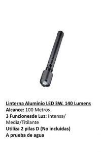 LINTERNA LED  DE ALUMINIO 1 W S/PILAS  UDOVO